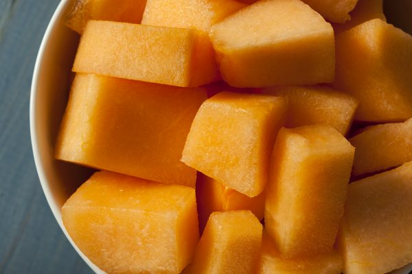 Healthy Cantaloupe All Cut Up